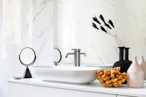 Rivestimenti in pietra per un bagno a effetto