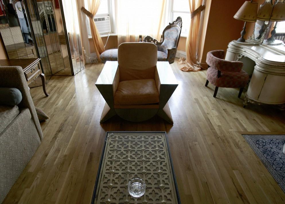 The room where pop star Madonna lived af