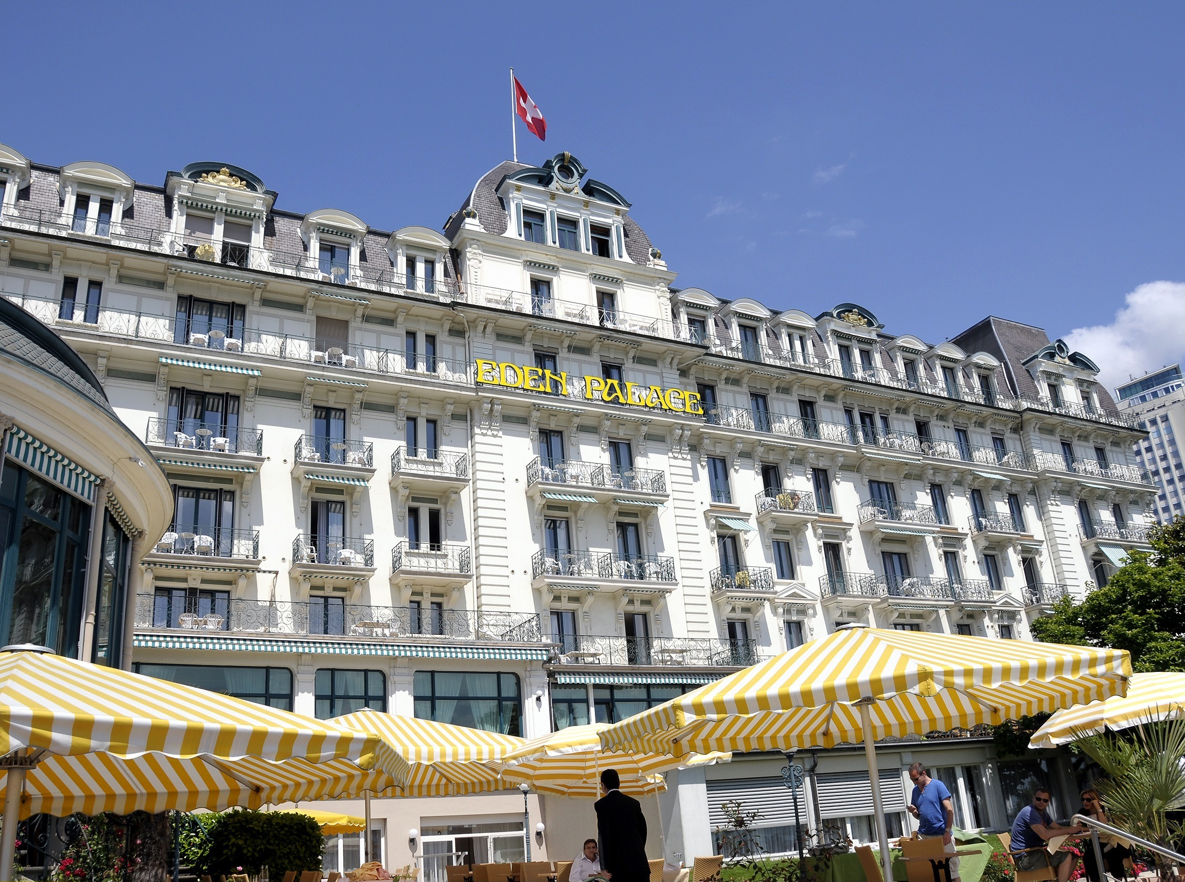 """(GERMANY OUT) Switzerland - Montreux: Hotel """"Eden Palace"""". (Photo by Klaus Winkler/ullstein bild via Getty Images)"""