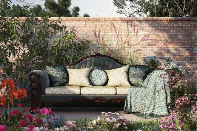 classic antique camelback sofa