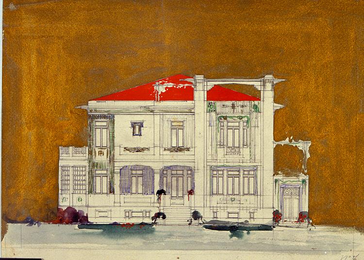 web-GiuseppeTorres,progettoperunavillaalLidodiVenezia,prospetto,1914