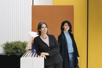 02 Domitilla Dardi and Emilia Petruccelli at the courtyard in San Domenico Maggiore EDIT Napoli 2020 ©Lea Anouchinsky